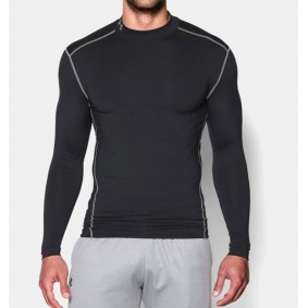 Sous-vêtements thermiques - Vêtements de Hockey - kopen - Under Armour ColdGear Armour Compression LS – noir