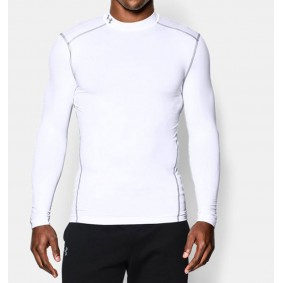 Sous-vêtements thermiques - Vêtements de Hockey - kopen - Under Armour ColdGear Armour Compression LS – blanc