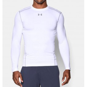 Sous-vêtements thermiques - Vêtements de Hockey - kopen - Under Armour ColdGear Armour Compression Crew – blanc