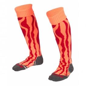Chaussettes de Hockey - Vêtements de Hockey - kopen - Reece Highfields chaussettes orange/rouge