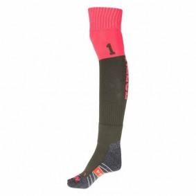 Chaussettes de Hockey - Vêtements de Hockey - kopen - Reece Numbaa chaussettes foncévert/rose