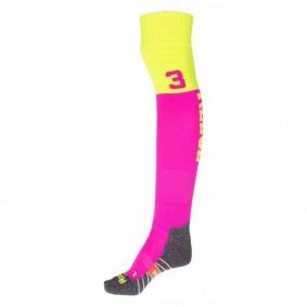 Chaussettes de Hockey - Vêtements de Hockey - kopen - Reece Numbaa chaussettes rose/jaunes