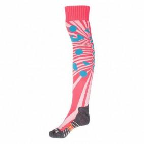Chaussettes de Hockey - Vêtements de Hockey - kopen - Reece Melville chaussettes rose/blanc/bleu