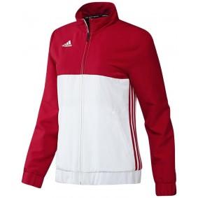Vestes de survêtement - Vêtements de Hockey - kopen - Adidas T16 Team veste survêtement femme rouge