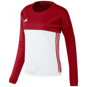 Maillots de Hockey - Vêtements de Hockey - kopen - Adidas T16 Crew sweater femme rouge
