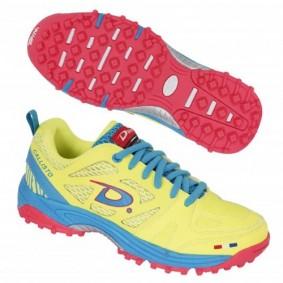 "Chaussures de Hockey - Chaussures Dita - Chaussures pour jeunes - Promotions - kopen - Dita Callisto ""Diva"" jaunes/rose/clairbleu (EN SOLDE)"