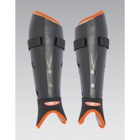Protections - Protège-tibias - kopen - TK S1 Plus jambières noir orange super solde