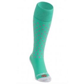 Chaussettes de Hockey - Vêtements de Hockey - kopen - Brabo chaussettes Points – Lime/rose