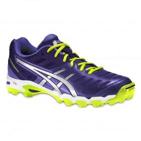 Chaussures Asics - Chaussures de Hockey - Promotions - kopen - Asics Gel-Hockey Typhoon Adulte femme violet/Neon jaunes (EN SOLDE)