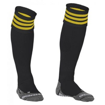 Stanno Ring chaussettes noir/jaunes. Normal price: 9.95. Our saleprice: 7.95