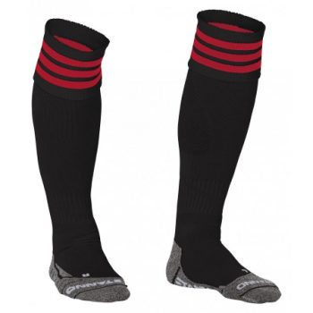 Stanno Ring chaussettes noir/rouge. Normal price: 9.95. Our saleprice: 7.95
