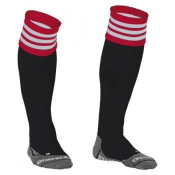 Stanno Ring chaussettes noir/rouge/blanc. Normal price: 9.95. Our saleprice: 7.95
