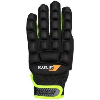 Grays International Pro gant noir/Neon jaunes gauche. Normal price: 24.95. Our saleprice: 19.95