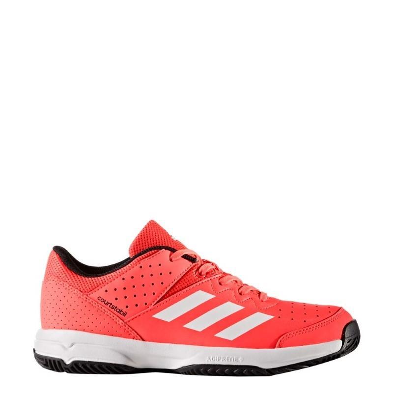 sports shoes ad255 fe14a Chaussures de Hockey - Adidas Court Stabil jeunes rou.