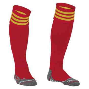 Stanno Ring chaussettes rouge/jaunes. Normal price: 9.95. Our saleprice: 7.95